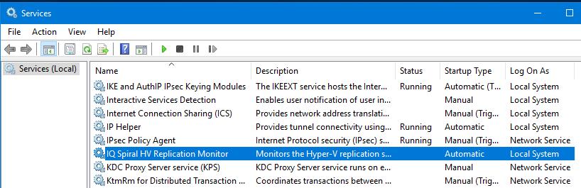 HV Replication Monitor Windows Service