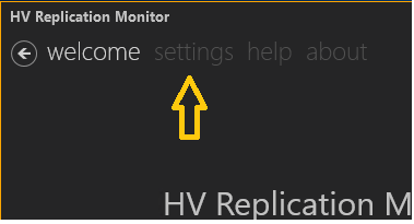 Click here for settings in the GUI